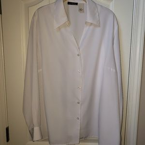 NWOT white blouse by Notations size 2X